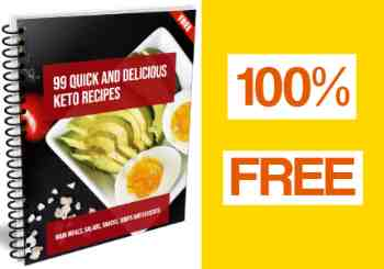 99 Free Keto Recipes - 3D image.