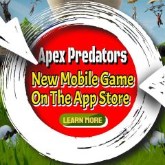 "Image text: ""Apex Predators - A New Mobile Game in the App Store""."
