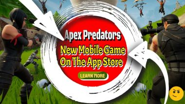 """Image text: """"Apex Predators - A New Mobile Game in the App Store""""."""